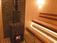 Баня с печью Kastor Saga