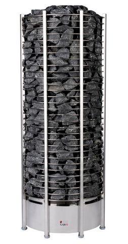 Электрическая печь SAWO TOWER TH9-105Ni-P (10,5 кВт, выносной пульт, встроенный блок мощности, нержавейка, круглая)
