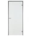Дверь Harvia для турецкой бани, хамама ALU 7x19 алюминий/серая