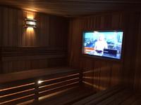 Строительство сауны с телевизором в Спортивном Клубе