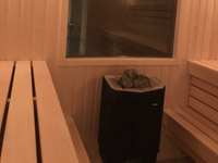 Сауна с печью Tylo и панорамным окном