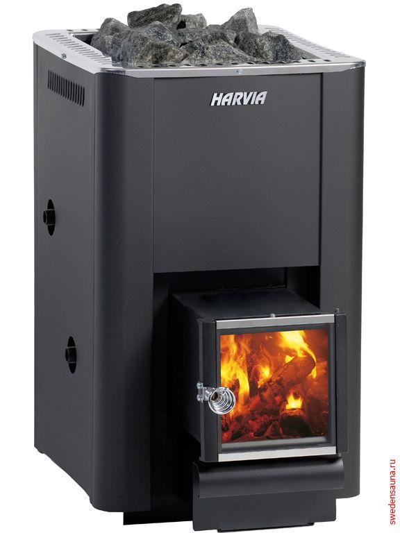 Дровяная печь Harvia 20 SL Boiler - фото, описание, отзывы.