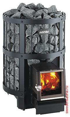 Дровяная печь Harvia Legend 150 SL - фото, описание, отзывы.