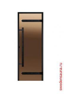 Дверь Harvia для хамама Legend ALU 9×19 «бронза», серое, прозрачное - фото, описание, отзывы.