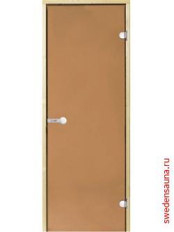 Дверь для сауны Harvia STG 8x19 сосна/бронза - фото, описание, отзывы.