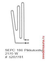 ТЭН SEPC 186 1500W 230V  - фото, описание, отзывы.