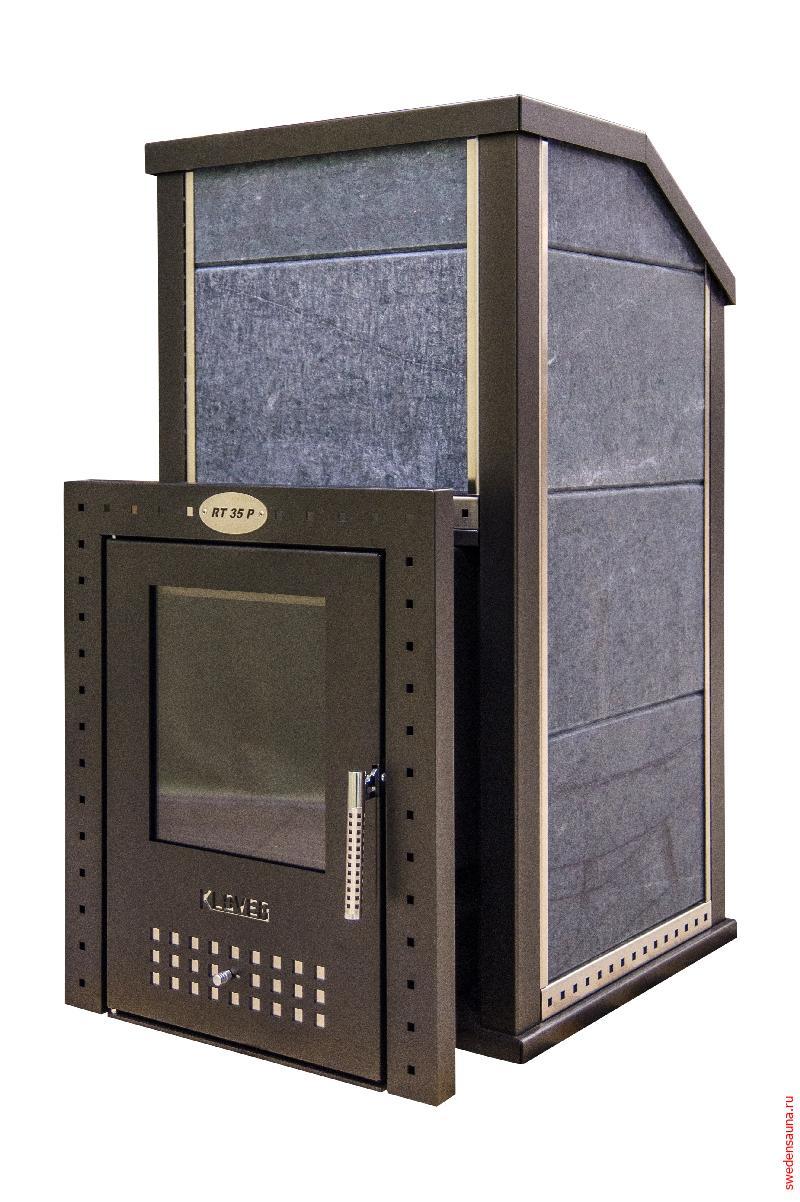 Дровяная печь KLOVER KLV-RT-20-P-S (Серпентинит 30 мм) - фото, описание, отзывы.