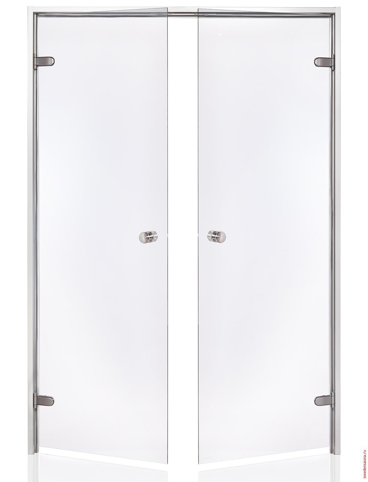 Дверь двойная Harvia ALU 17×21 стекло прозрачное - фото, описание, отзывы.
