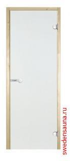 Дверь для сауны Harvia STG 7×19 коробка ольха,прозрачное стекло - фото, описание, отзывы.