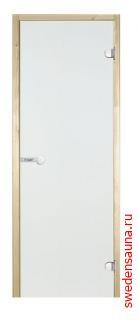 Дверь для сауны Harvia STG 7×19 коробка осина, стекло прозрачное - фото, описание, отзывы.