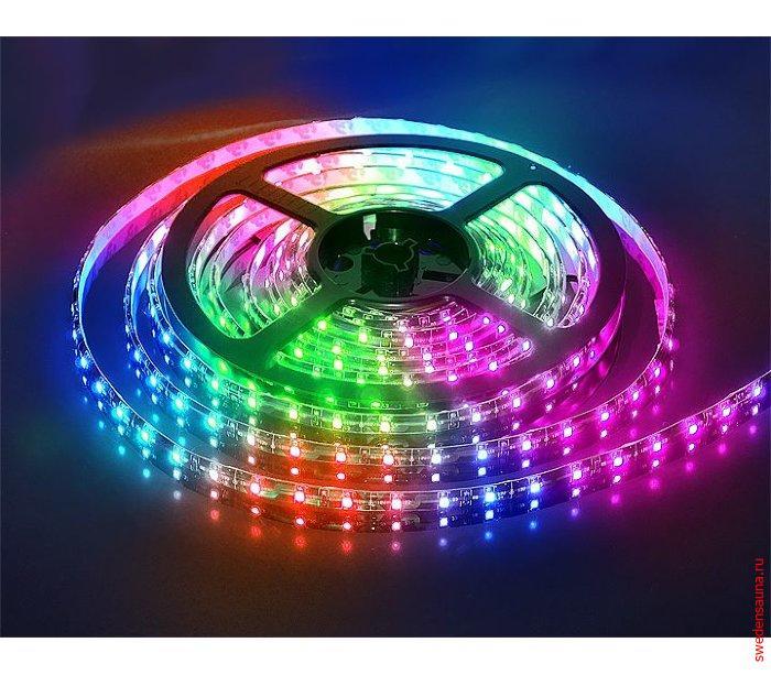 Комплект Ленты светодиодной RGB 5 метров IP68 для Хаммама и Сауны 12v - фото, описание, отзывы.