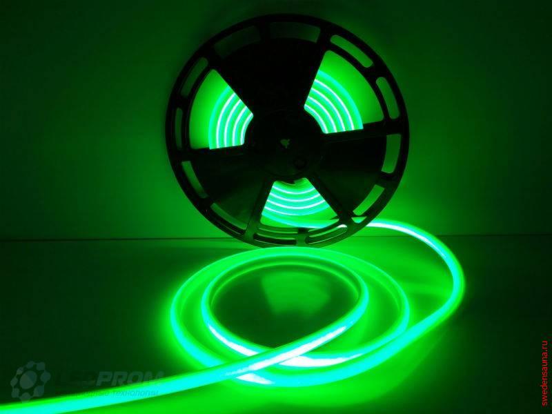 Светодиодная LED лента для сауны и хаммама до 120 гр IP68 (Зеленый) 24v - фото, описание, отзывы.