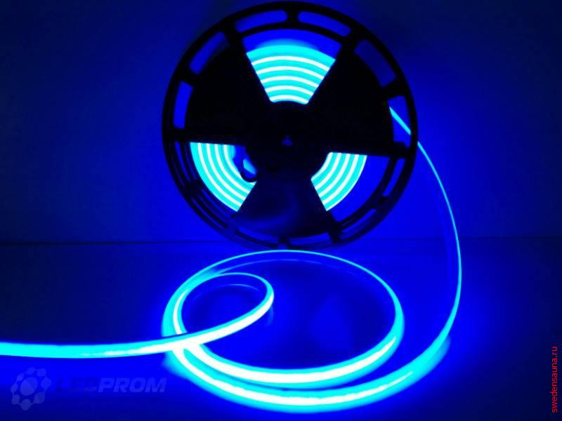 Светодиодная LED лента для сауны и хаммама до 120 гр IP68 (Синий) 24v - фото, описание, отзывы.