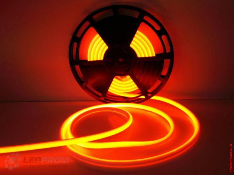 Светодиодная LED лента для сауны и хаммама до 120 гр IP68 (Красный) 24v - фото, описание, отзывы.