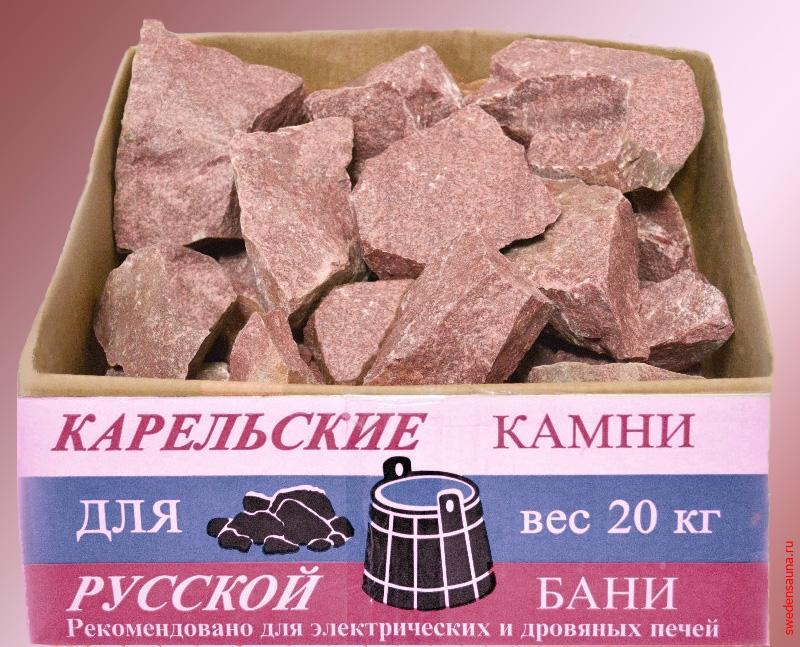Камни малиновый кварцит 20кг - фото, описание, отзывы.