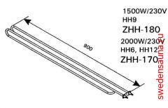 ТЭН Harvia ZHH-180 1500 Вт/240 В - фото, описание, отзывы.